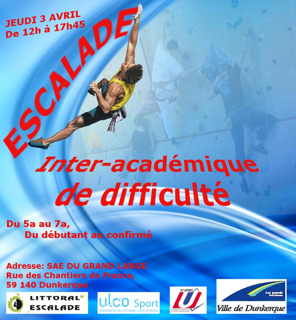 Affiche Championnat Inter Académique d'Escalade de Difficulté