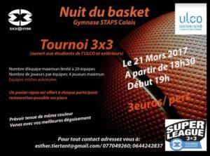 Nuit du Basket le 21 mars 2017 à Calais