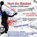 Nuit du basket – Mercredi 27 mars à Calais
